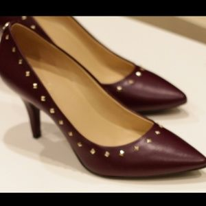 NEW Micheal Kors Flex Mid Pump Heels Damson Purple